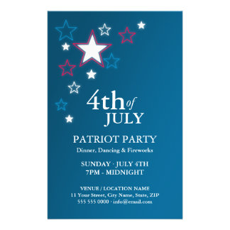 4th of July Patriot Party flyer