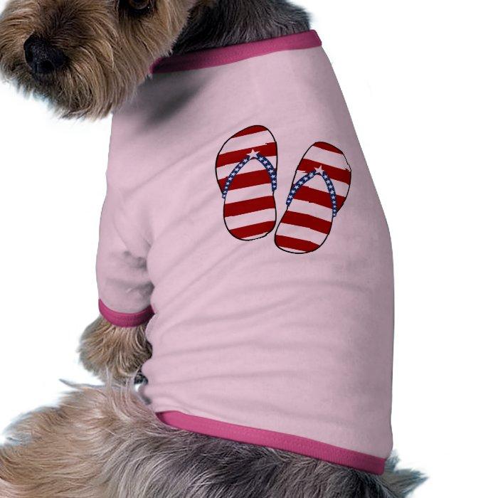 4th of July Patriotic American Flag Flip Flops Shirt