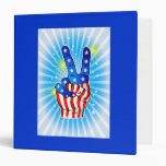 4th of July - Patriotic American-Victory & Peace Vinyl Binders