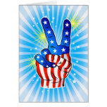 4th of July - Patriotic American-Victory & Peace Cards