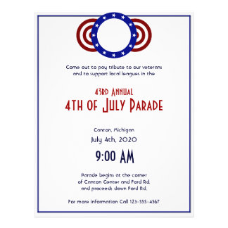 4th of July Patriotic Circle of Stars Flyer