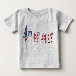 4th of July Patriotic Colors Baby T-Shirt