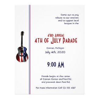 4th of July Patriotic Flag Guitar Flyer