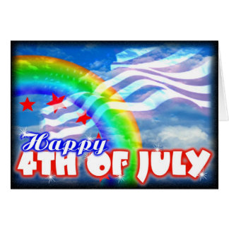 4th of July patriotic images on Greeting Card