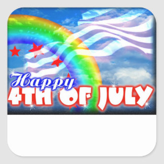 4th of July patriotic images on Square Sticker