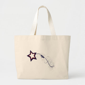 4th of July Patriotic Star Light Tote Bags