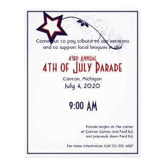 4th of July Patriotic Star Light Flyer