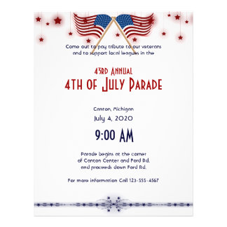 4th of July Patriotic US Flags and Stars Flyer
