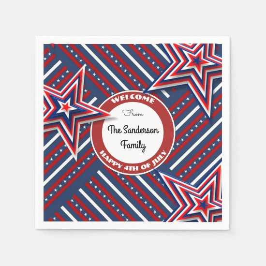 4th Of July Personalized Paper Napkin