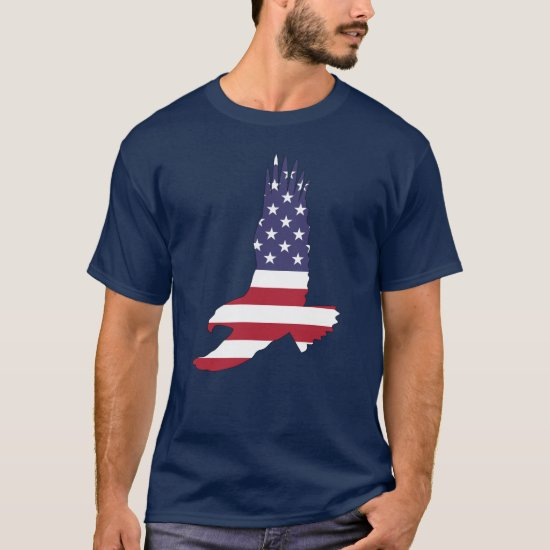 4th of July Picnic, American Flag and Eagle T-shir T-Shirt