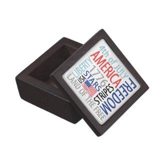 4th of July Premium Jewelry Box