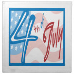 4th Of July Printed Napkin