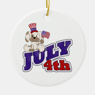 4th Of July Puppy Ornaments