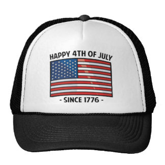 4th of july quotes trucker hat