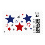 4th Of July Red, White, And Blue Postage Stamp