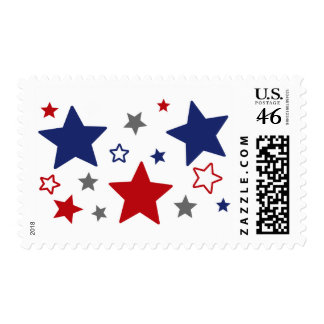 4th Of July Red White And Blue Postage Stamp