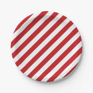 4th Of July Red White Stripes Party Paper Plates  sc 1 st  Zazzle & Red And White Striped Plates | Zazzle