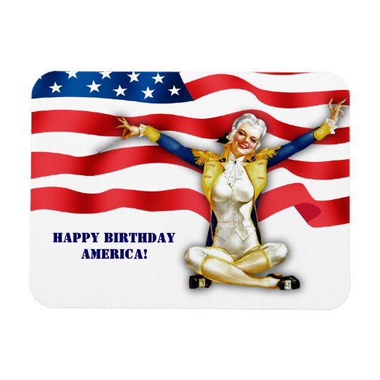 4th of July Retro Pin-Up Gift Magnets