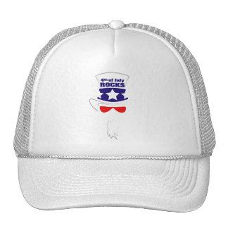 """""""4th of July ROCKS"""" Cap Trucker Hat"""