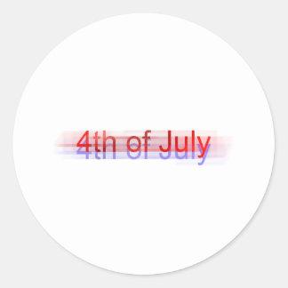 4th of July Round Sticker
