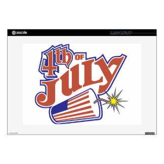 4th of July Laptop Decal