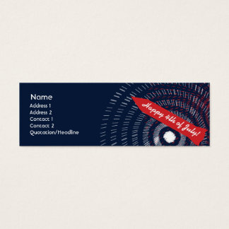 4th of July - Skinny Mini Business Card