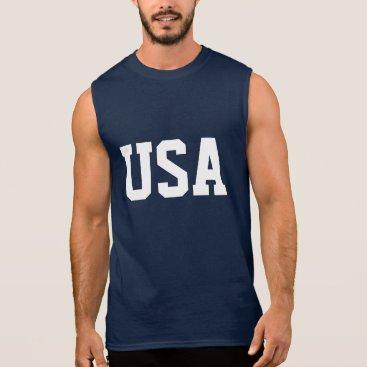 logotees 4th of July sleeveless shirt   USA apparel
