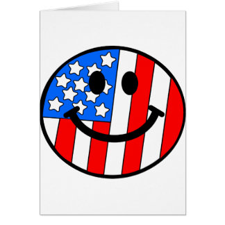 4th of July Smiley Greeting Cards