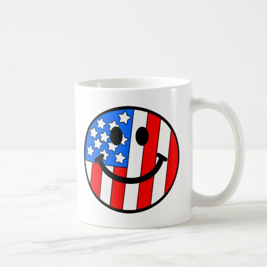 4th of July Smiley Coffee Mug
