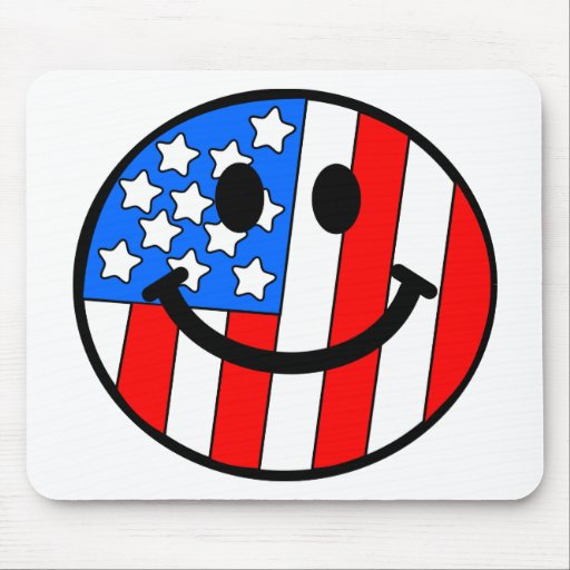 4th of July Smiley Mouse Pads