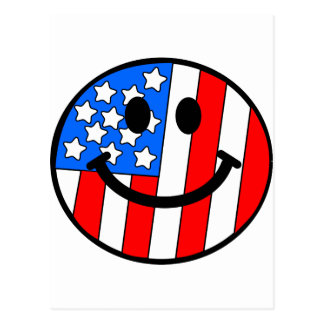 4th of July Smiley Postcards