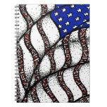 4th of July Spiral Note Book