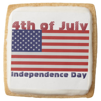 4th of July Square Shortbread Cookies - One Dozen