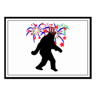 4th of July Squatchin' w/Fireworks Large Business Cards (Pack Of 100)