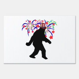 4th of July Squatchin' w/Fireworks Signs