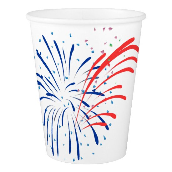 4th of JULY STAR BURST by SHARON SHARPE Paper Cup