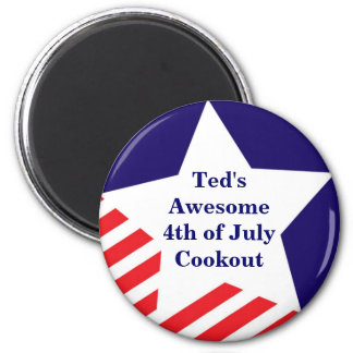 4th of July star stripe red white blue magnet