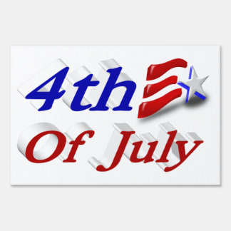 4th of July Star & Stripes 3D Yard Sign