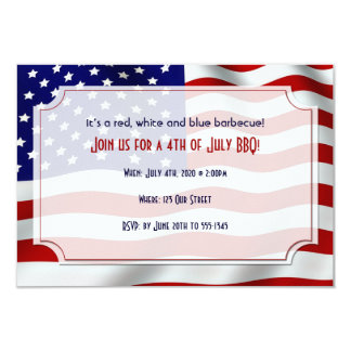 4th of July Stars and Stripes Forever Flag Card