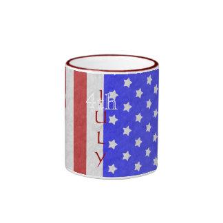 4th of July Stars & Stripe Red Mug