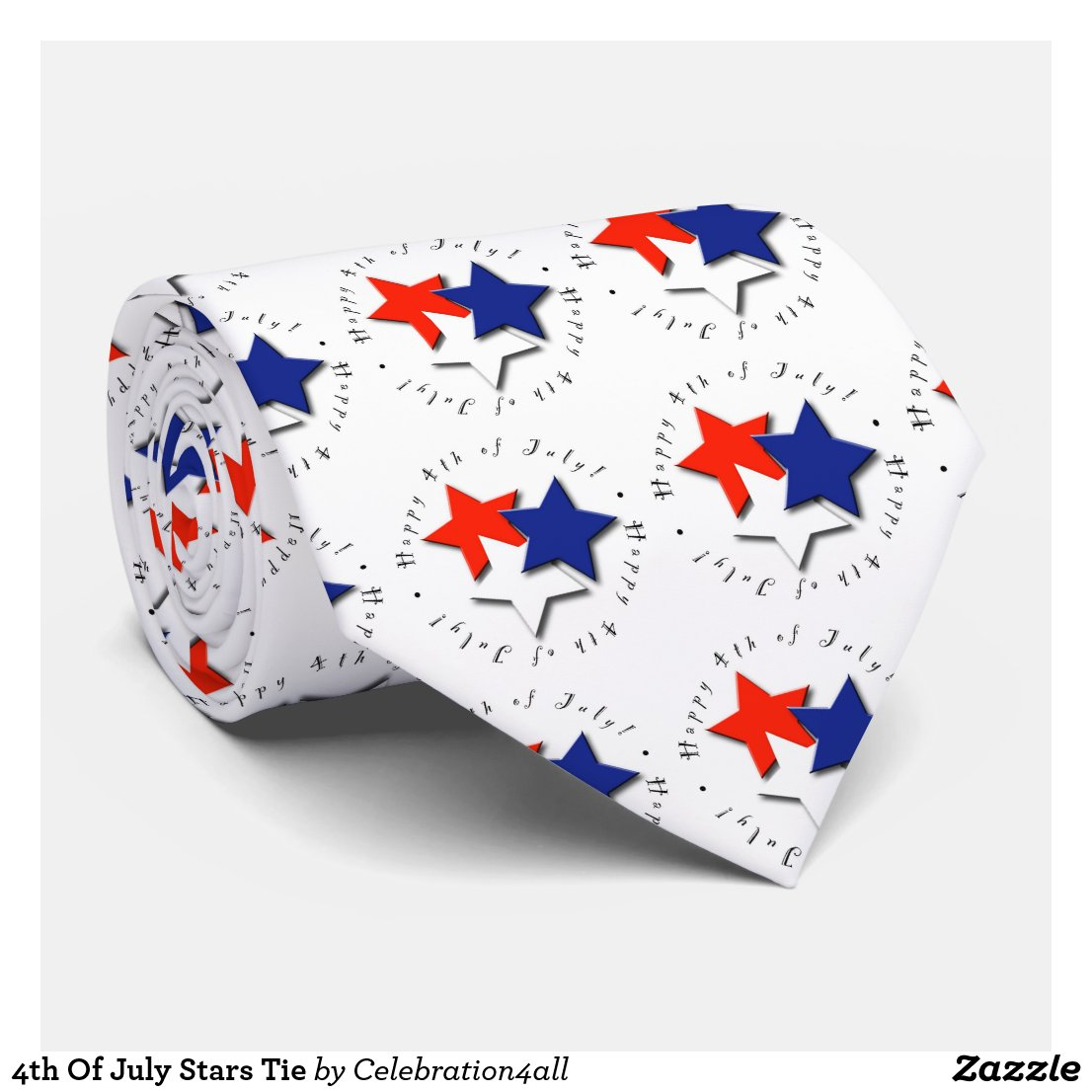 4th Of July Stars Tie