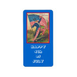 4th of july stickers address label