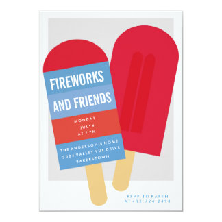 4th of JULY SUMMER PARTY INVITATION invite