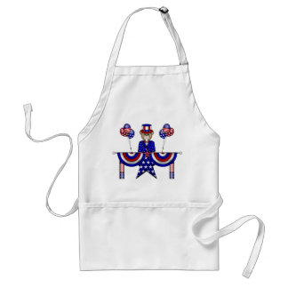 4th of July Teddy President Adult Apron