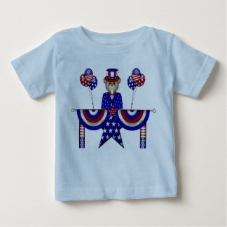 4th of July Teddy President Baby T-Shirt