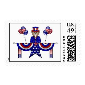 4th of July Teddy President Stamps