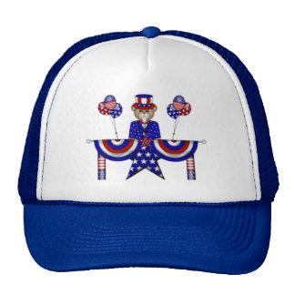 4th of July Teddy President Trucker Hat