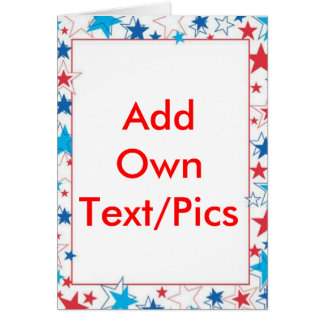 4th Of July Template Card (Add Your own text/pics)