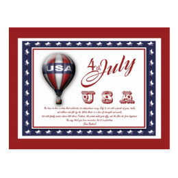 4th of July template - customizable  Postcard