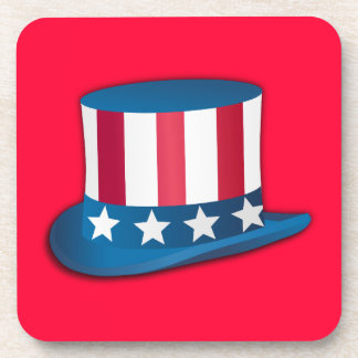 4th of July Top Hat Coaster